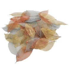 Papermania Metallic Skeleton Leaves 40 Pcs | Hobbycraft. To add to name cards?