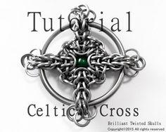 Tutorial for Celtic Cross Chain Maille Pendant por BrilliantSkulls