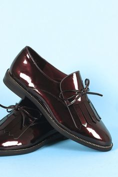a767203180f Bamboo Patent Vegan Leather Bow Fringe Loafer  fashion  clothing  shoes   accessories