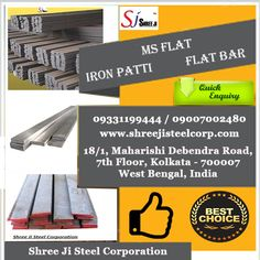 Shree Ji Steel Corporation is a reputed organization is supplying MS Flat Bar whic is cost-effective and remarkably versatile form of steel which is suited to a huge range of applications. Although it displays the superb combination of strength, versatility and formability of steel, the reduced carbon content of MS Flat Bar makes it easier to work and therefore great for fabrication and construction purposes.  For more details about this product, please call at +919331199444