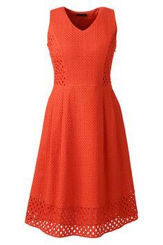 Women's Sleeveless Embroidered A-line Dress