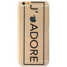 Clear J ADORE Phone Case iPhone 6 ($10) ❤ liked on Polyvore featuring accessories, tech accessories, phone cases, phone, tech and cases
