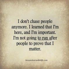 I am important