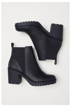 High Heels Boots, Black High Heels, Heeled Boots, Shoe Boots, Black Boots With Heels, Black Leather Ankle Boots, Leather Booties, Black Booties, Leather Shoes