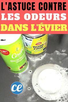 Marre des odeurs d'égouts qui remontent dans l'évier, dans la douche de la salle de bain ? Voici un truc efficace pour éliminer les mauvaises odeurs. Pour enlever les mauvaises odeurs des canalisations, pensez au vinaigre blanc et au bicarbonate. C'est facile, rapide et économique. Voici le tuto :