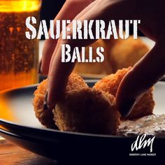 Sauerkraut Balls Loaded with traditional German flavors, these tasty morsels will be the hit of any Oktoberfest bash. Oktoberfest Party, German Oktoberfest, Oktoberfest Recipes, Sauerkraut Balls Recipe, German Recipes Dinner, German Appetizers, Salted Caramel Fudge, Good Enough To Eat, Russian Recipes