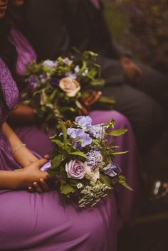 Purple Flower Bouquet for Classic Wedding | By Matt Penberthy | Wedding Flowers | Wedding Bouquet | Bridal Bouquet | Bridal Flowers | Bridesmaid Flowers | Bridesmaid Bouquet | Purple Bridesmaid Dresses | Classic Wedding |
