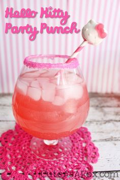 Want to wow your party guests? Make Hello Kitty Party punch and delight Hello Kitty fans young and old. Come grab the full recipe and find out where to buy Hello Kitty gummies!