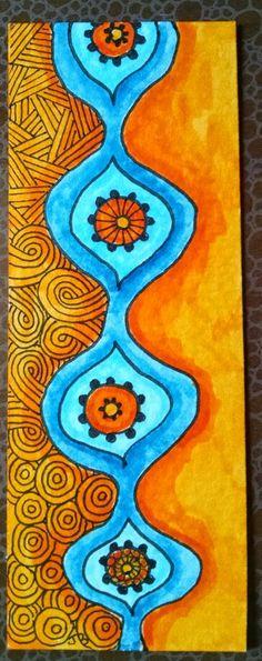 J Beland. Zentangle bookmark. 3/15.