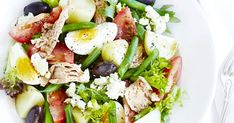 A fresh, simple and healthy nicoise-style tuna salad, perfect for a quick dinner or lunch.