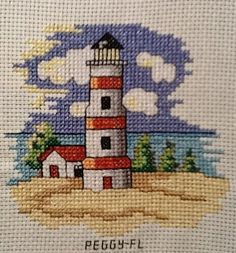 Lighthouse cross stitch