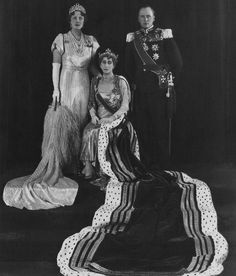 Queen Maud of Norway with Crown Prince Olav and Crown Princess Martha
