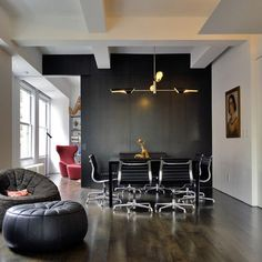 Black Feature Wall