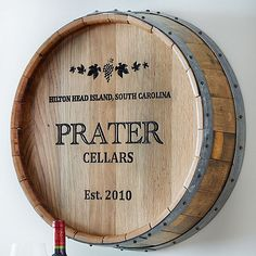 Personalized Deep Carved Quarter Barrel Head at Wine Enthusiast - $279.95