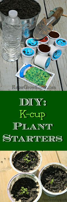 Don't just toss out those K-cups when you are done with your cup of coffee! They have so many uses to reuse them. Like this K-cup Uses DIY Plant Starters!