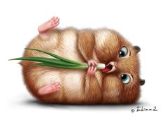 Hamsters on diet. | Ekimma #digital #art