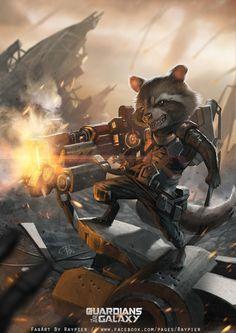 guardians of the galaxy Rocket Raccoon  by Opira7.deviantart.com on @DeviantArt