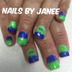 Seahawk nails by Janee