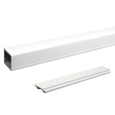 6' Standard STAIR Picket & Spacer Kit White. Slide and lock into place between the Stair Hand and Base Rails - DIY Aluminum Railing System.