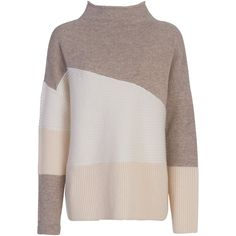 French Connection Patchwork Tonal Jumper , Classic Cream ($115) ❤ liked on Polyvore featuring tops, sweaters, classic cream, french connection tops, slouchy sweater, cream top, oversized sweaters and long sleeve tops
