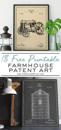 Farmhouse Patent Art