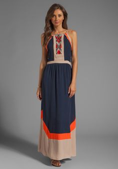 GREYLIN Amanda Embroidered Maxi Dress in Navy at Revolve Clothing - Free Shipping!