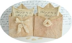 SOLD OUT 8 Thank you for being my Bridesmaid Mini Pink Envelopes by TheRecycledRuffle, $34.00