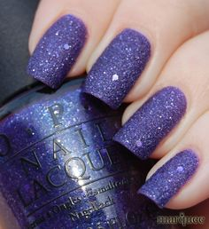 Tried the new liquid sand nail polish two weeks ago and LOVED it! This was my colour pick... Mariah Carey's OPI Can't Let Go - a perfect purple.    OPI Nail Polish (M47-Can't Let Go) NEW Mariah Carey Collection *LIQUID SAND*