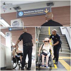 Acessibilidade no metrô Rio de Janeiro, Brasil.
