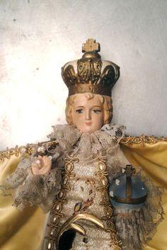Vintage Infant of Prague Baby Jesus by VintageJunkInMyTrunk, $85.00