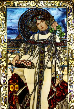 Alphonse Mucha   Autumn | by Stained Glass Painter / Jim M. Berberich