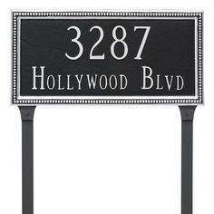 Montague Metal Products Verona Two Line Address Plaque Finish: Chocolate/Silver