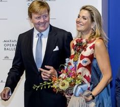 15-9-2017, Ter ere van de 85e verjaardag van choreograaf Hans van Manen danst Het Nationale Ballet - Dutch National Ballet 'Ode aan de Meester'. Koning Willem-Alexander en Koningin Máxima zijn bij de première.