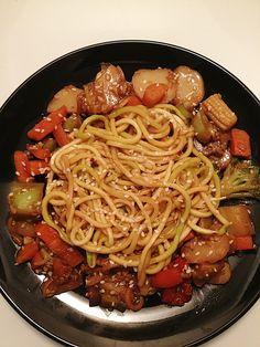 "Teriyaki Zoodle ""Lo Mein"" with Stir Fry Veggies"