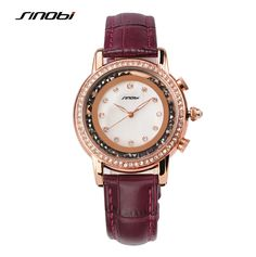 SINOBI Watch Top Brand Luxury Rhinestone Wristwatches Diamond Watch Women Watches Fashion Rose Gold Quartz Watch Montre Femme Like and Share if you want this Visit us