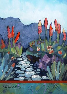 Flower Garden Original Painting