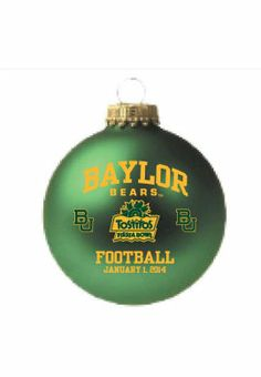 2014 Fiesta Bowl #Baylor Christmas Ornament ($18 at Baylor Bookstore) #SicEm #BaylorFiesta