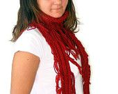 SALE infinity Scarf. a Block Infinity Scarf. Loop Scarf, Circle Scarf, Neck Warmer.red Crochet Infinity,for holiday,gift,christmas gifts