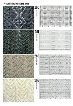 "Photo from album ""Книга 1000 узоров"" on Yandex. Knitting Stiches, Cable Knitting, Crochet Stitches Patterns, Knitting Charts, Knitting Yarn, Hand Knitting, Stitch Patterns, Knitting Patterns, Knit Stitches"