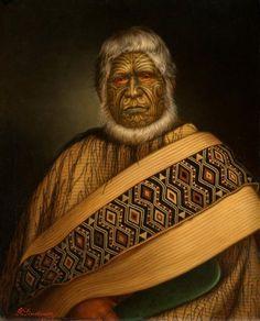 Te Hapuku by Gottfried Lindauer Maori Face Tattoo, Ta Moko Tattoo, Face Tattoos, Maori Tattoos, Maori Words, Polynesian People, Maori People, Maori Tattoo Designs, Maori Art