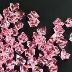 Pink Acrylic Crushed Ice Decorative Gems - 3 Cups