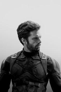 Sebastian Stan, Marvel Actors, Marvel Avengers, Marvel Universe, Bucky Barnes Aesthetic, James Barnes, Marvel Photo, Man Thing Marvel, Beautiful Boys