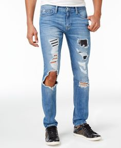 Guess Men's Slim-Fit Tapered & Ripped Jeans