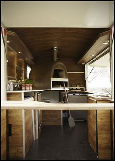 Pizza; Outdoor cafe popup ideas - Citroen H-Van Pizza Conversion by Towability