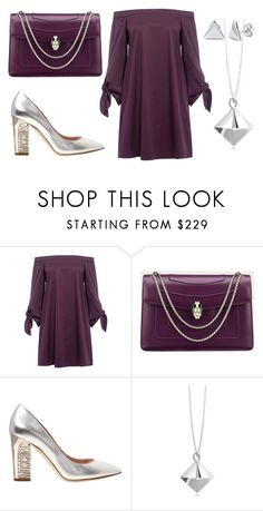 """violet minimal"" by binna81 on Polyvore featuring TIBI, Moschino, Origami Jewellery and BERRICLE"