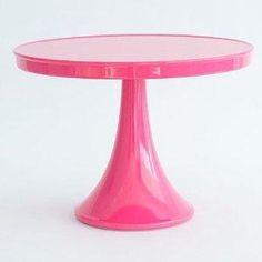 Glitterville Pedestal Cake Stand (Pink)