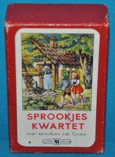 kwartet sprookjes fairytales card game 1960s