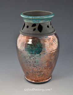 Raku Pottery for Sale | black rim home pottery by artist dirtworks pottery handmade 7 raku ...