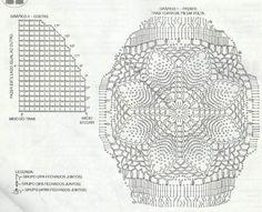 Коврик с объемным цветком. Схема вязания крючком