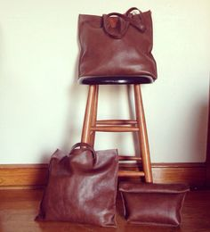 Milk Chocolate Tote on Etsy, $75.00